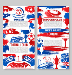 Soccer football club posters vector