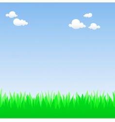 spring field vector image