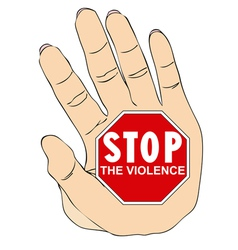 Stop violence against women vector