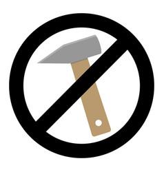 Symbol banner no repair no knocking vector