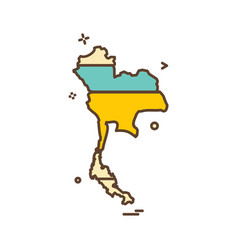 thailand map icon design vector image