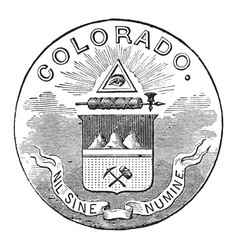 The official seal of the us state of colorado in vector