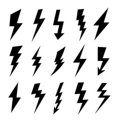 thunderbolt silhouette electrical flash icon vector image