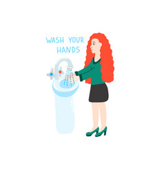 wash your hands - coronavirus quarantine vector image