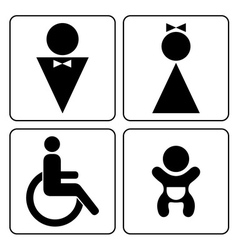 WC signs set vector image