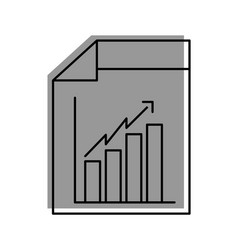 web page financial graph arrow growth document vector image