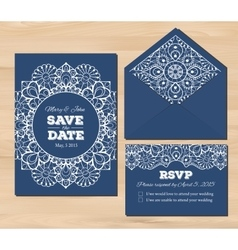 Wedding set with lace elements vector