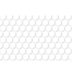 white abstract seamless hexagons pattern vector image