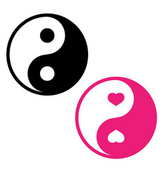 Ying yang symbol harmony and balance on white vector