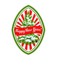 happy new year christmas tree icon vector image vector image