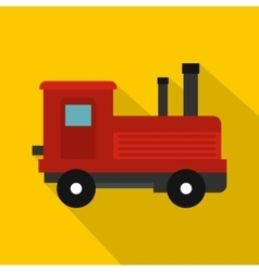 Locomotive icon flat style vector image vector image