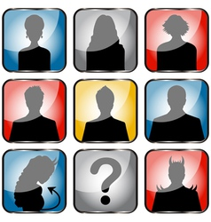 People avatars small vector image vector image