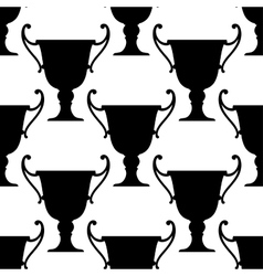 Sport trophy cups seamless pattern vector image