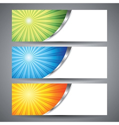 Abstract sun burst banner background vector image