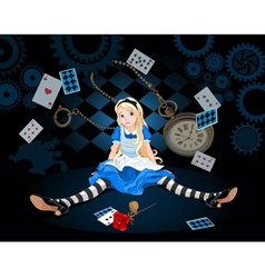 Alice in surprise vector image vector image