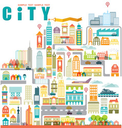 City map with building vector image vector image