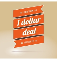 Dollar deal poster vector image vector image