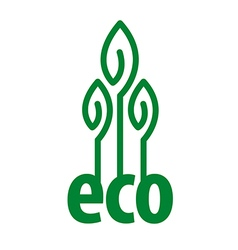 eco logo in the form of plant vector image