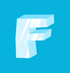 letter f ice font icicles alphabet freeze vector image