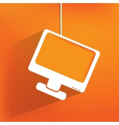 Monitor web icon flat design vector image vector image