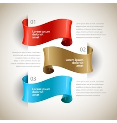 ribbons Design infographics template vector image
