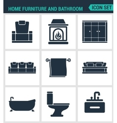 Set of modern icons Home furniture and vector image vector image