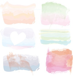Set of watercolor banners frames splashes vector image
