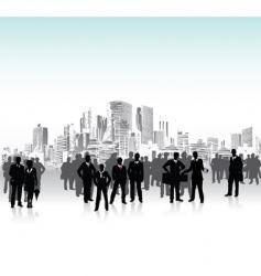 urban crowd vector image vector image