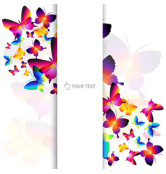 butterfly background vector image vector image