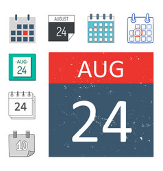 calendar web icons office organizer vector image