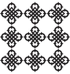 Celtic knots pattern vector image vector image