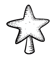 christmas decoration star vector image vector image