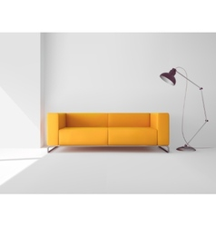 Living Room With Sofa vector image vector image
