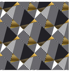 abstract gold and black geometric seamless pattern vector image