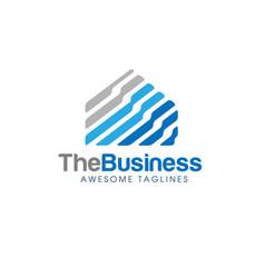 Abstract real estate logo vector