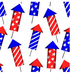 america independent day seamless pattern festive vector image