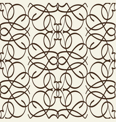 arabesque seamless pattern in line style vector image