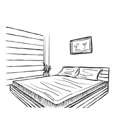 Bedroom modern interior vector