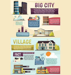 Big city infographics orthogonal layout vector