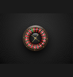 black casino gambling roulette wheel dark vector image