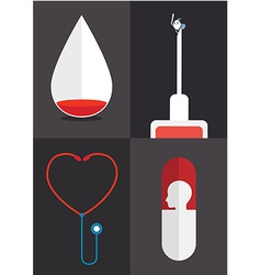 Blood syringe vector image