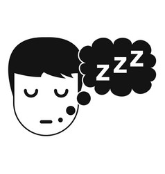boy head with speech bubble icon simple style vector image