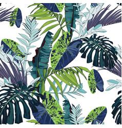 Bright green blue plants seamless pattern vector