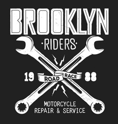 brooklyn repair service vintage shirt print vector image