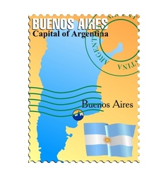 Buenos aires - capital of argentina vector