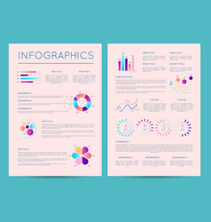 business brochure with various infographics vector image