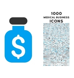 Business Remedy Icon with 1000 Medical Business vector