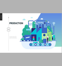 Business series - production web template vector