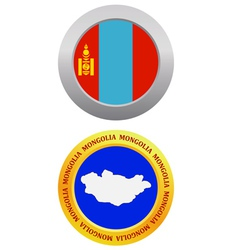 Button as a symbol MONGOLIA vector