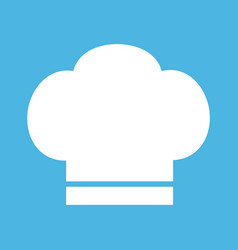 Chef icon hat on white background vector